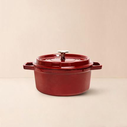 Enameled Cast Iron Pot 2.6-Qt Home & kitchen LIFEASE