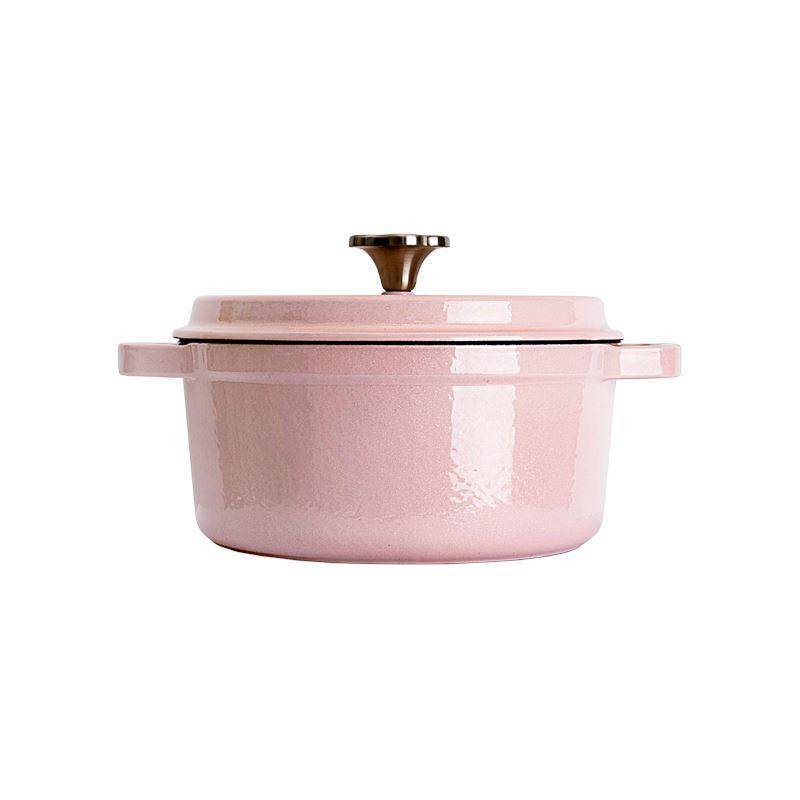 Enameled Cast Iron Pot 3-Qt - Limited edition Home & kitchen LIFEASE Limited edition Pink