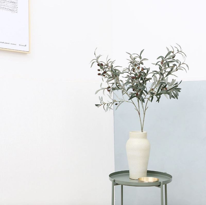 Fake Olive Branch Home Decor Home & kitchen LIFEASE