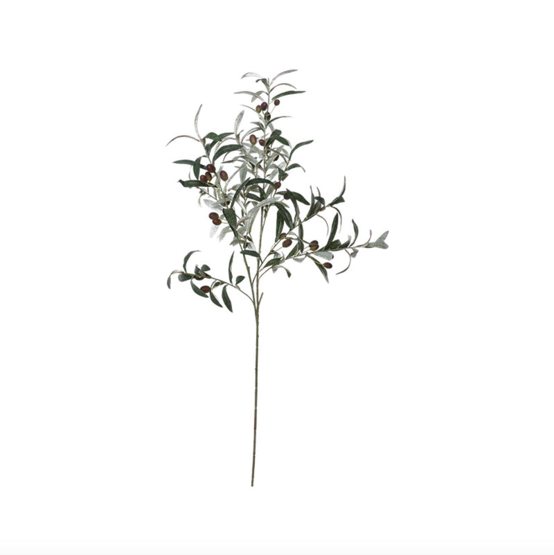 Fake Olive Branch Home Decor Home & kitchen LIFEASE Green