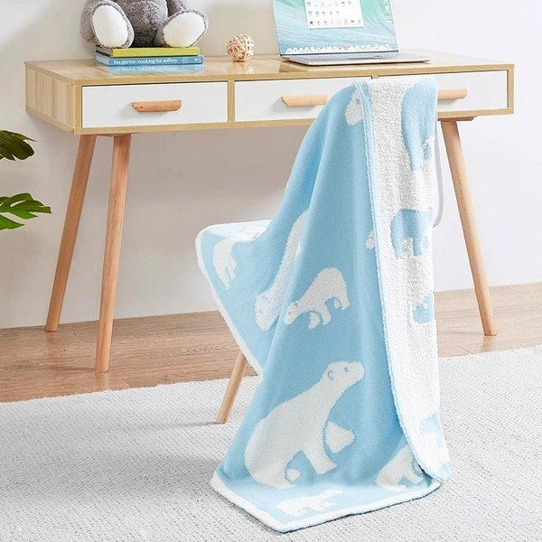 Feather Yarn Jacquard Blanket Baby Care LIFEASE