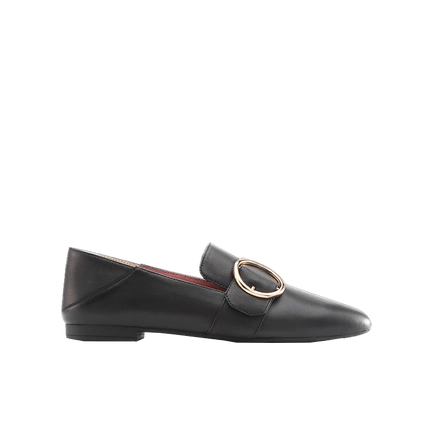 Women's Loafer with Round Buckle