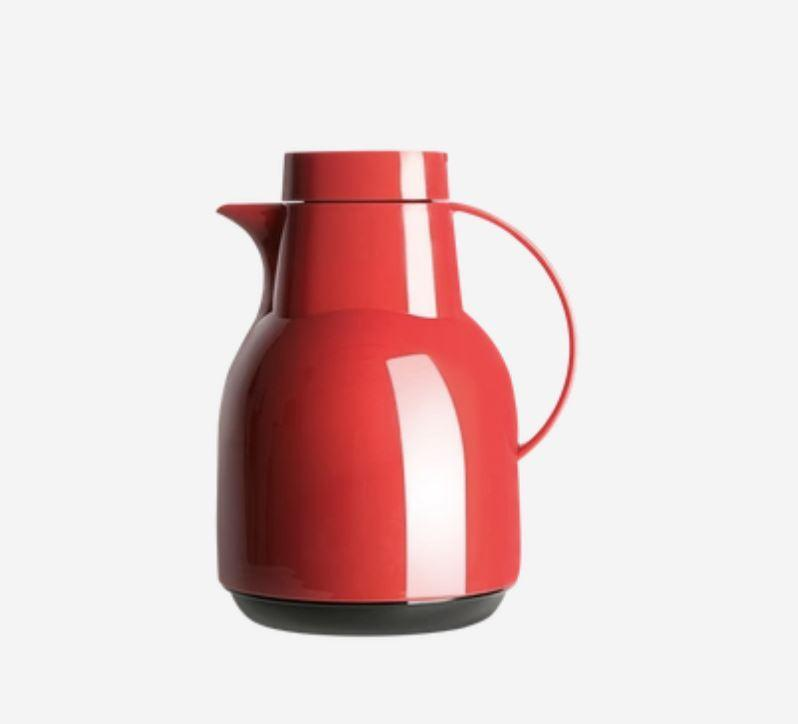 Glass Lined Insulated Pitcher - 1 Liter - Multiple Colors Home & kitchen LIFEASE Red
