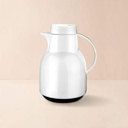 Glass Lined Insulated Pitcher - 1 Liter - Multiple Colors Home & kitchen LIFEASE White