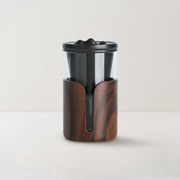 Glass Tea Tumbler with Wood Protective Sleeve 13 oz Home & kitchen LIFEASE