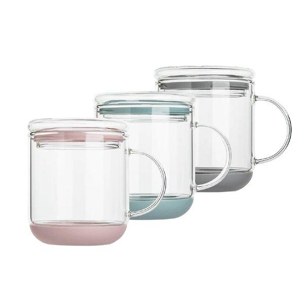 Heat-Resistant Glass Cup with Lid Home & kitchen LIFEASE