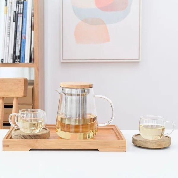 Heat Resistant Glass Transparent Tea Services Set Home & kitchen LIFEASE