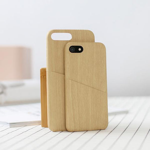 iPhone 7/8 Simple Wood Grain Phone Case Consumer Electronics LIFEASE