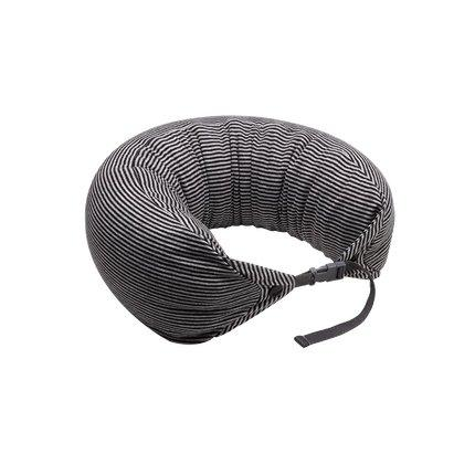 Japanese Style Multi-function Neck Pillow Double Buckle Sports & Travel LIFEASE Black/Grey