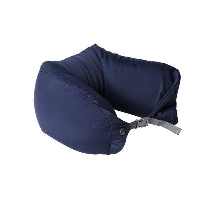 Japanese Style Multi-function Neck Pillow Double Buckle Sports & Travel LIFEASE Navy (Smooth)