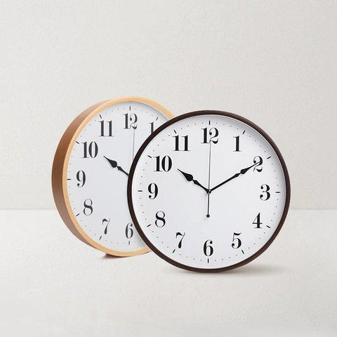 "Japanese Style Mute Clock (12.60"" in diameter) Home & kitchen LIFEASE"