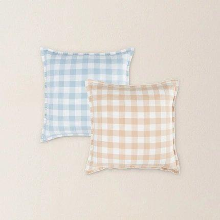 Japanese Style Plaid Pillow Case Home & kitchen LIFEASE