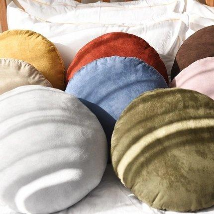 Japanese-Style Rounded Soft Pillow Cushion Set of 2 Home & kitchen LIFEASE