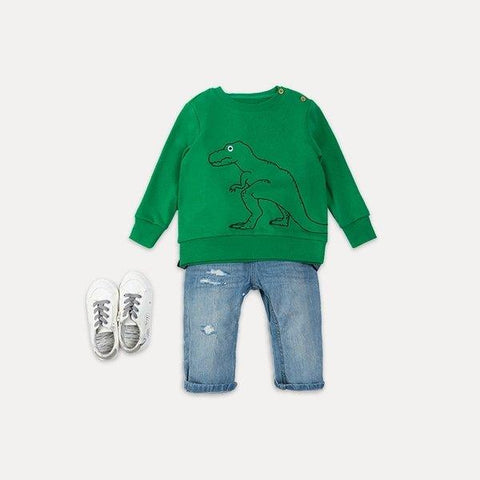 Kid's Dinosaur Round Neck Sweatshirt Baby Care LIFEASE