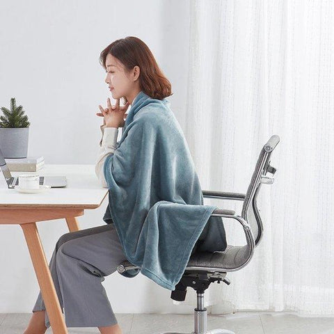 "Lightweight and Warm Multi-purpose Blanket for Office and Home 39""x55"" - Multiple Colors Home & kitchen LIFEASE"