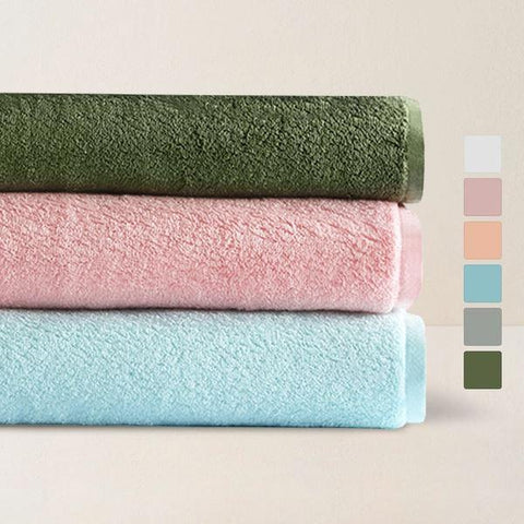 "Long-Staple 100% Cotton Bath Towel 30.5"" x 59"" Home & kitchen LIFEASE"