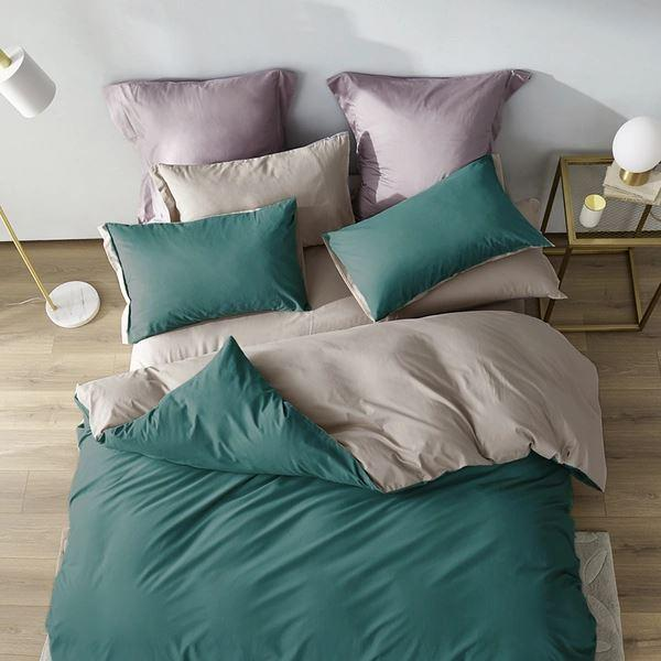 Long-Staple Cotton Sanding 4-Piece Bedding Set with Duvet Cover - Queen/King Home & kitchen LIFEASE