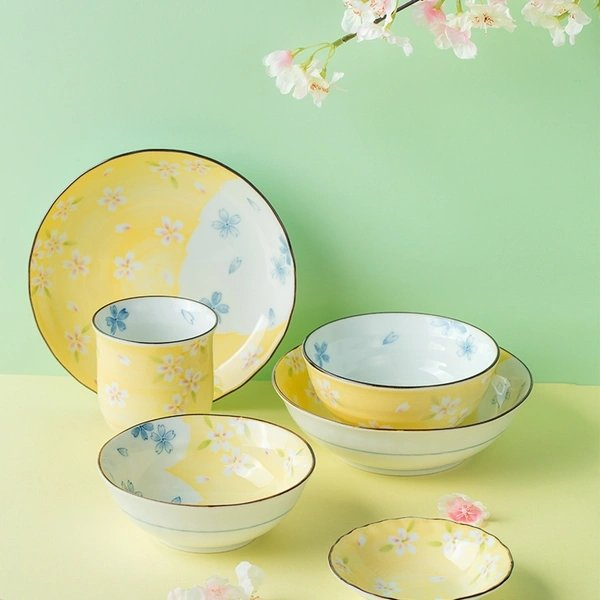 [Made in Japan] Mino Ware Sakura Theme Cutlery Gift Set 6pcs - Lifease