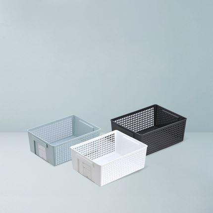 Made in Japan Pull-Out Storage Basket (3 colors available) Home & kitchen LIFEASE White Large