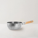 "[Made In Japan] Traditional Japanese Yukihira Saucepan Stainless Steel Cooking Pot w/ Wooden Handle - 7""/8"""