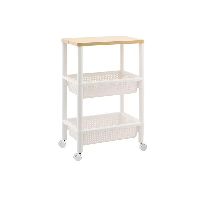 Made in Japan Three-Layer Sliding Rack Home & kitchen LIFEASE Wooden table board 3-layer storage