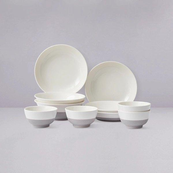 Matte Ceramic Tableware Set of 10 Home & kitchen LIFEASE