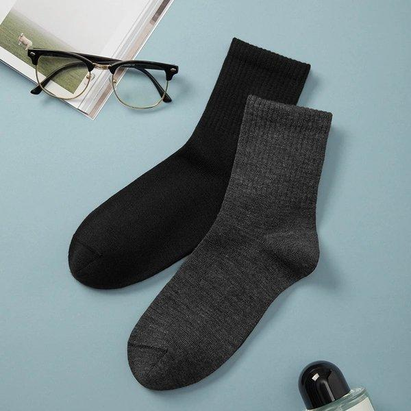 Men's 100% Wool Stretchy Medium-high Socks (3 pairs) Apparel shoe bag LIFEASE