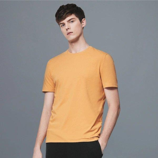 Men's Combed Cotton Round Neck T-Shirt Apparel shoe bag LIFEASE