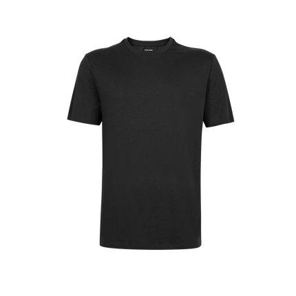 Men's Combed Cotton Round Neck T-Shirt Apparel shoe bag LIFEASE Black S