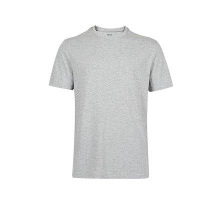Men's Combed Cotton Round Neck T-Shirt Apparel shoe bag LIFEASE Light Grey M