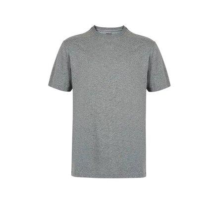 Men's Combed Cotton Round Neck T-Shirt Apparel shoe bag LIFEASE Medium Grey S