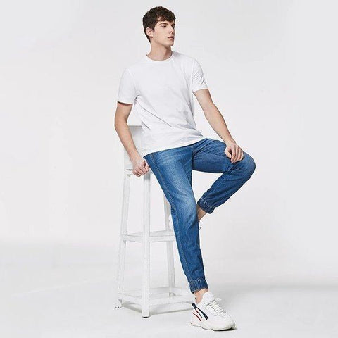 Men's Cool Feeling Jogger Jeans Apparel shoe bag LIFEASE