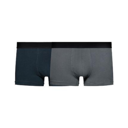 Men's Cotton Classics Multipack Boxers Apparel shoe bag LIFEASE Dark Blue + Grey XXL