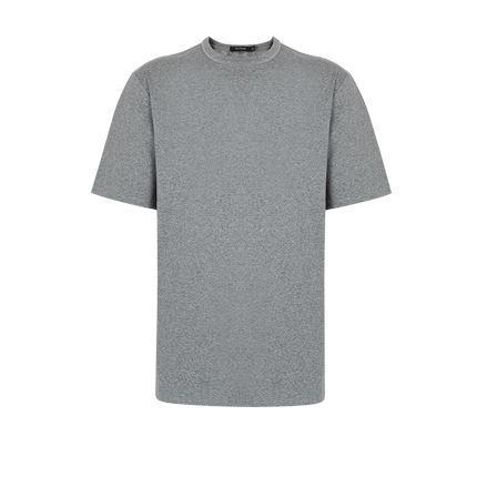 Men's Cotton Loose Short-sleeved T-shirt Apparel shoe bag LIFEASE Grey L