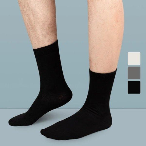 Men's Cotton Stretchy Medium-high Socks (3 pairs) Apparel shoe bag LIFEASE