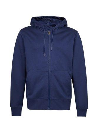 Men's Cotton Zip Up Hooded Jacket Apparel shoe bag LIFEASE Navy S