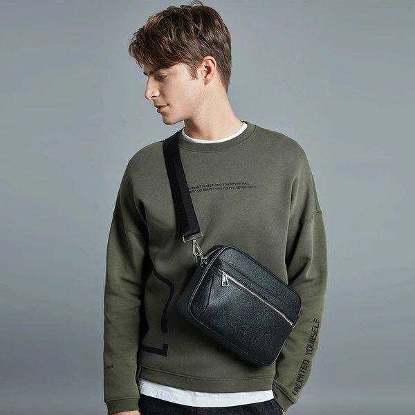 Men's Grainy Crossbody Bag Apparel shoe bag LIFEASE