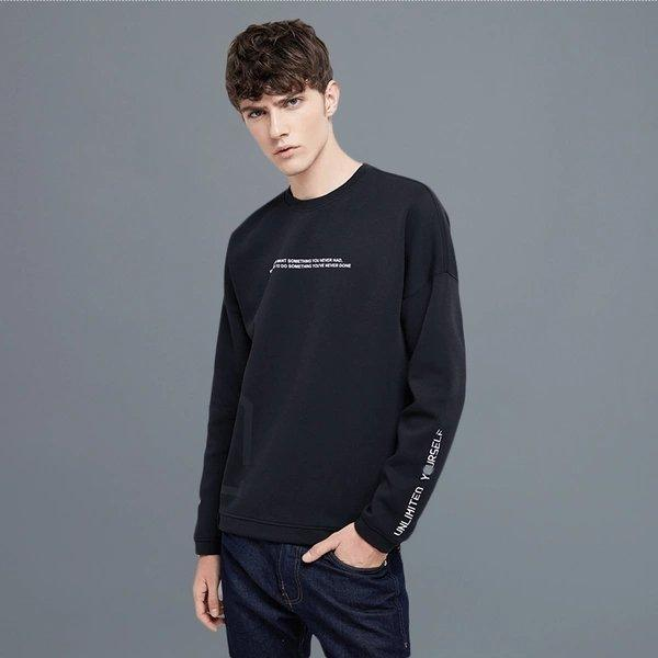 Men's Letter Pullover Sweater Apparel shoe bag LIFEASE