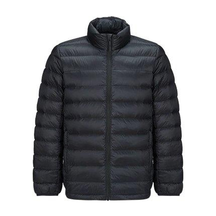 Men's Lightweight Slim-fit Down Jacket Holiday special LIFEASE Black S Stand Collar
