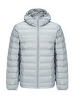Men's Lightweight Slim-fit Down Jacket Holiday special LIFEASE Grey M With cap