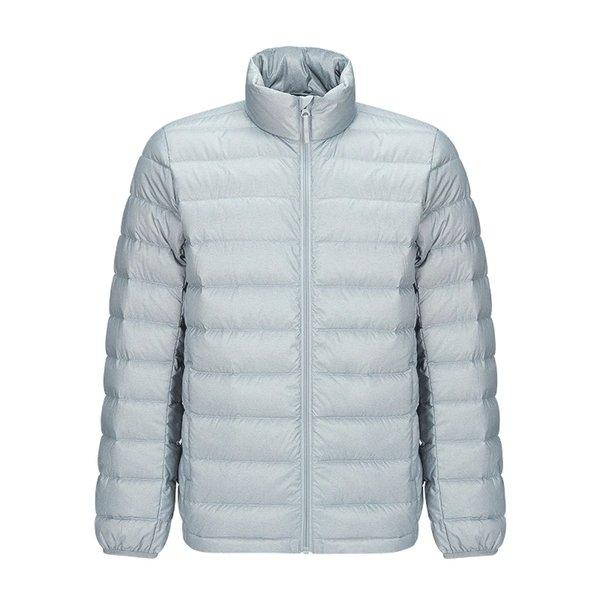 Men's Lightweight Slim-fit Down Jacket Holiday special LIFEASE Grey S Stand Collar