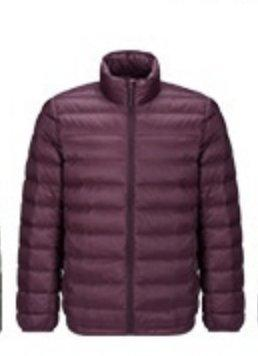 Men's Lightweight Slim-fit Down Jacket Holiday special LIFEASE Red S Stand Collar