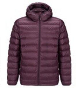 Men's Lightweight Slim-fit Down Jacket Holiday special LIFEASE Red S With cap