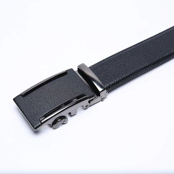 Men's Lychee Skin Embossed Leather Belt with Automatic Buckle Apparel shoe bag LIFEASE