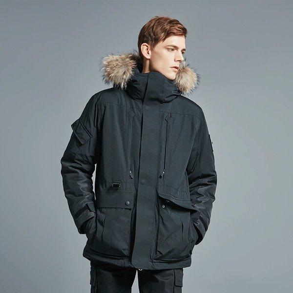 Men's Outdoor Down Long Jacket Holiday special LIFEASE