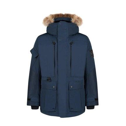 Men's Outdoor Down Long Jacket Holiday special LIFEASE Navy M