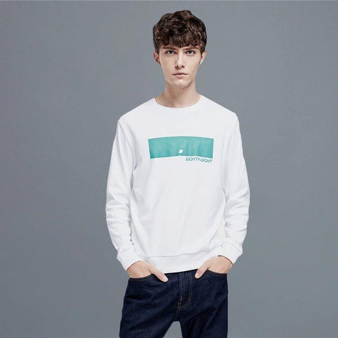Men's Printed Round Neck Sweatshirt Apparel shoe bag LIFEASE
