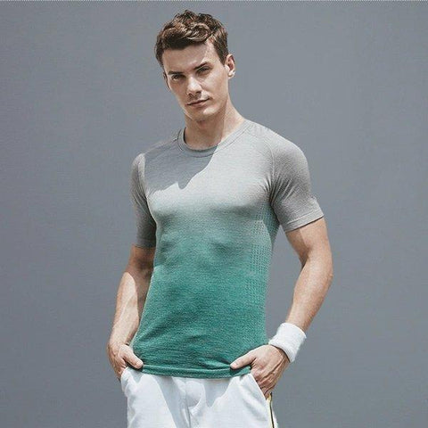 Men's Seamless Gradient Color Sports T-Shirt Sports & Travel LIFEASE
