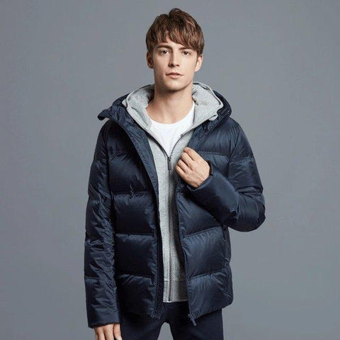 Men's Seamless Loose Down Jacket Apparel shoe bag LIFEASE