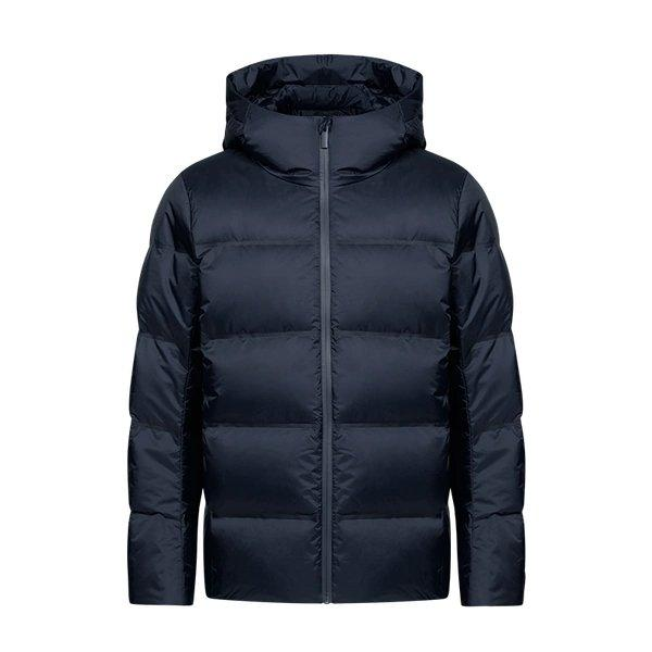 Men's Seamless Loose Down Jacket Apparel shoe bag LIFEASE Navy S